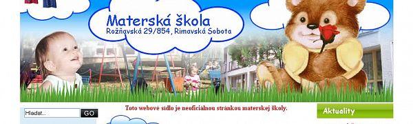Materská škola Rožňavská Rimavská Sobota